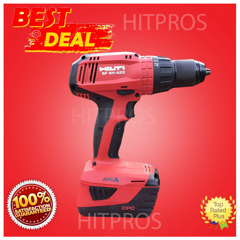 hilti sf 6h a22 cordless hammer drill driver 2 batteries new model fast ship ebay. Black Bedroom Furniture Sets. Home Design Ideas
