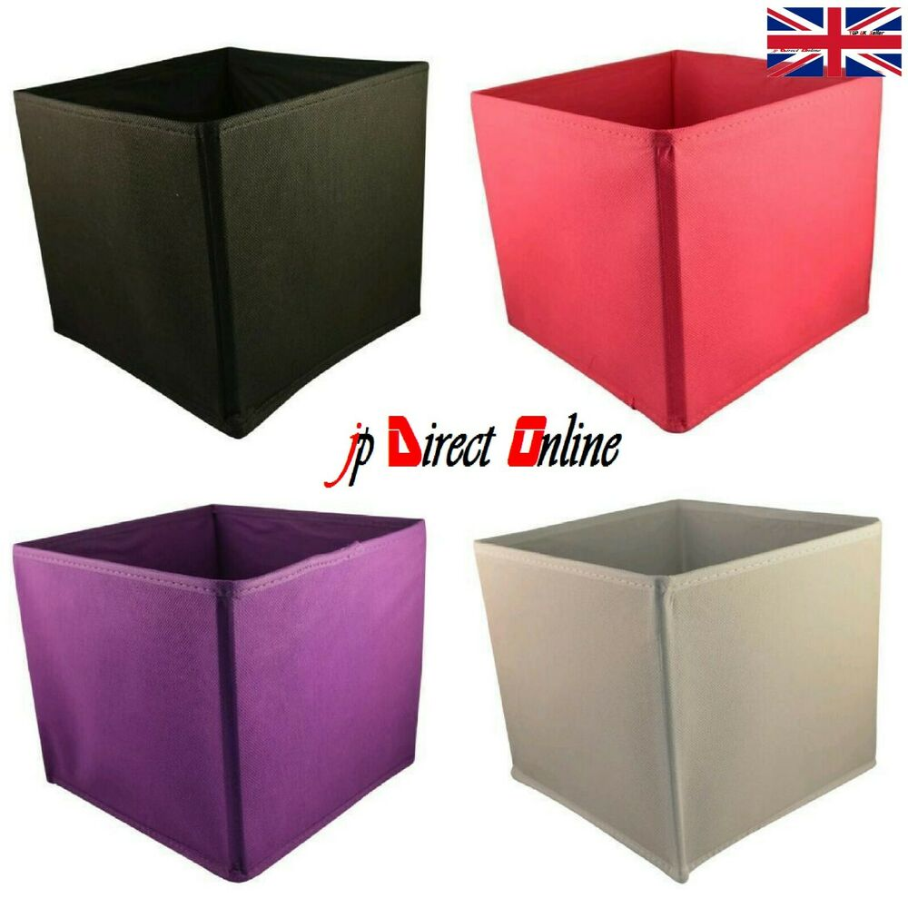 Kids Storage Cube Organizer Toy Box Kids Bedroom Furniture: Square Foldable Collapsible Canvas Storage Box Fabric