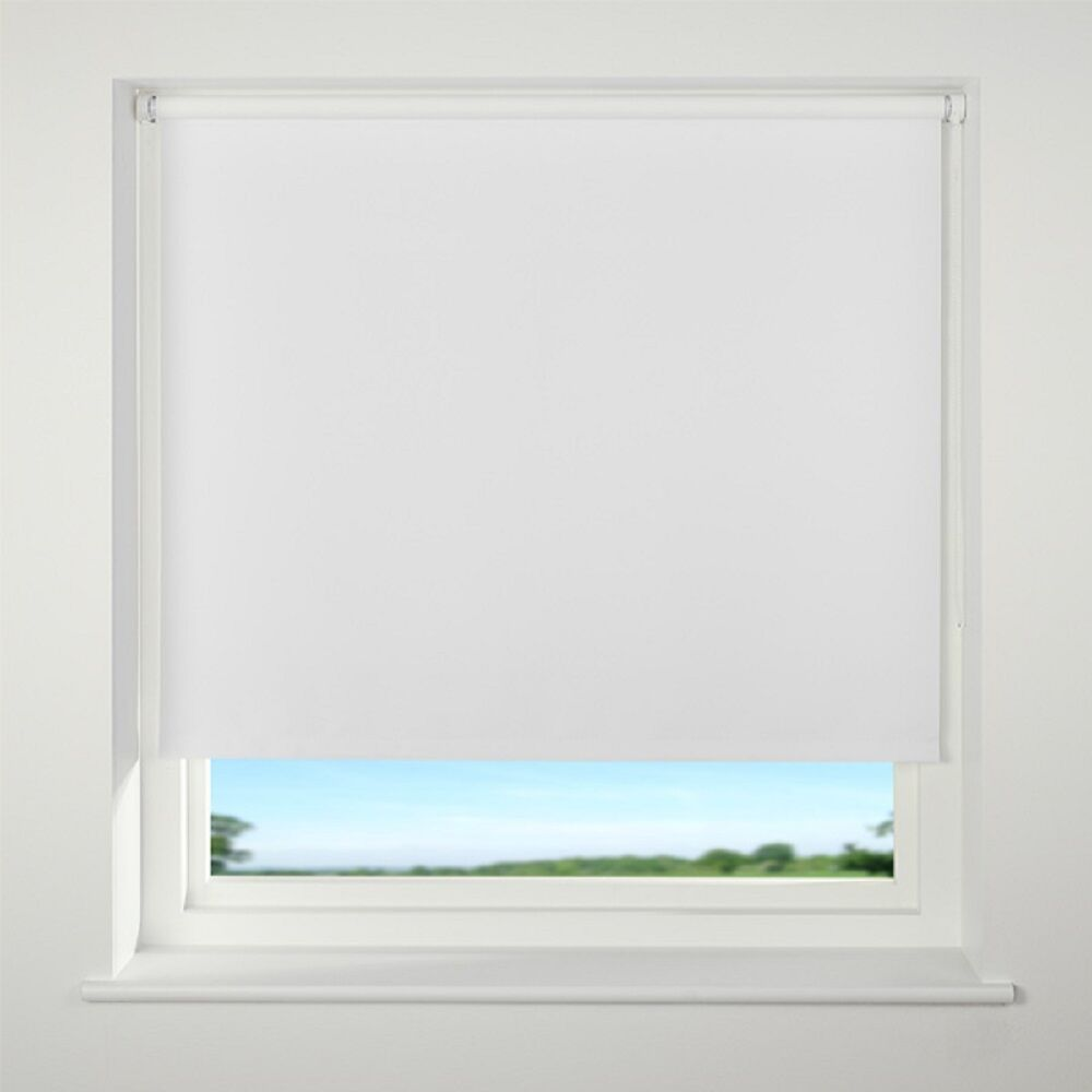 Discounted Top Quality Roller Blinds Blackout White Cream
