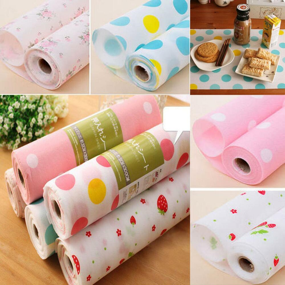 Paper Shelf Liner Non Adhesive: 270x30cm Non-adhesive Shelf Contact Paper Cabinet Drawer