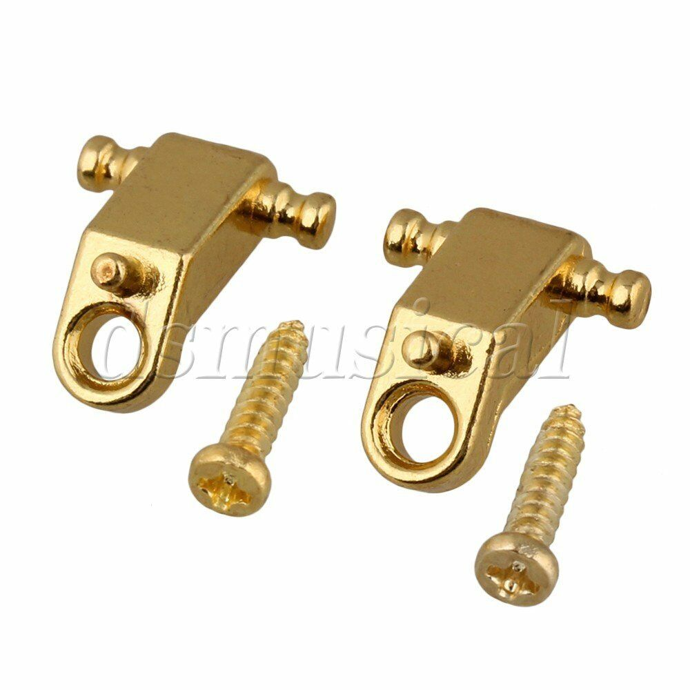 2x string retainers roller string trees gold w screw for electric guitar 841870138291 ebay. Black Bedroom Furniture Sets. Home Design Ideas