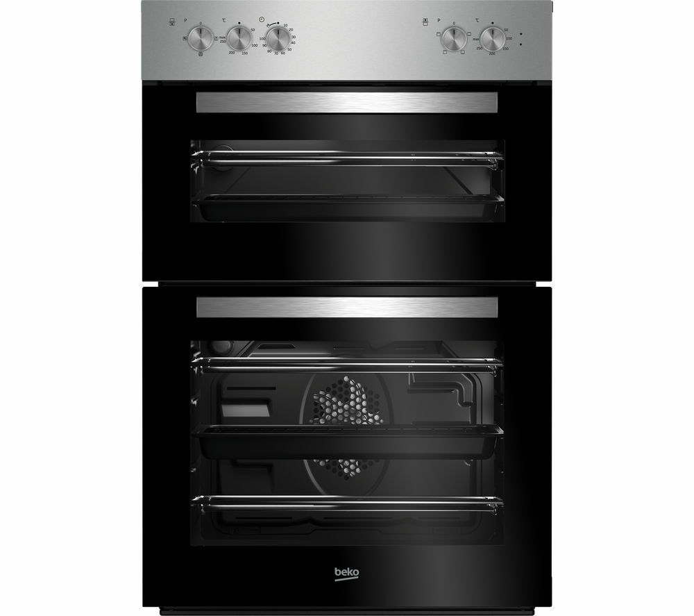 Built In Ovens Electric ~ Beko built in electric double oven main litres fan