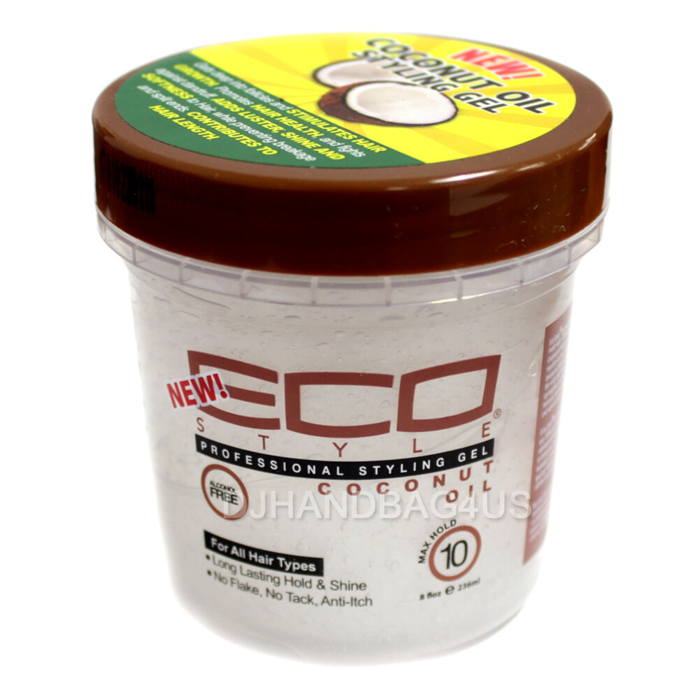 styling hair with coconut oil eco style coconut hair styling gel max hold 8 fl oz 4175 9461 | s l1000