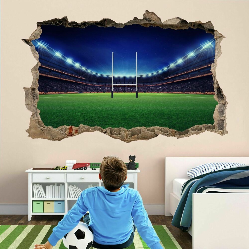 Rugby Stadium Wall Art Sticker Mural Decal Kids Bedroom