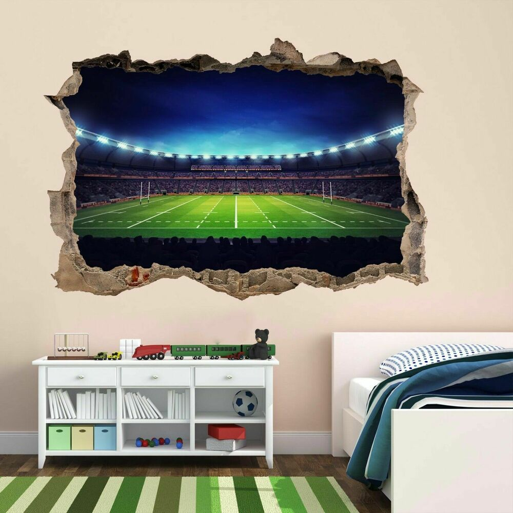 Rugby Stadium Wall Art Sticker Mural Decal Kids Bedroom Home Office Decor  BD22 | EBay