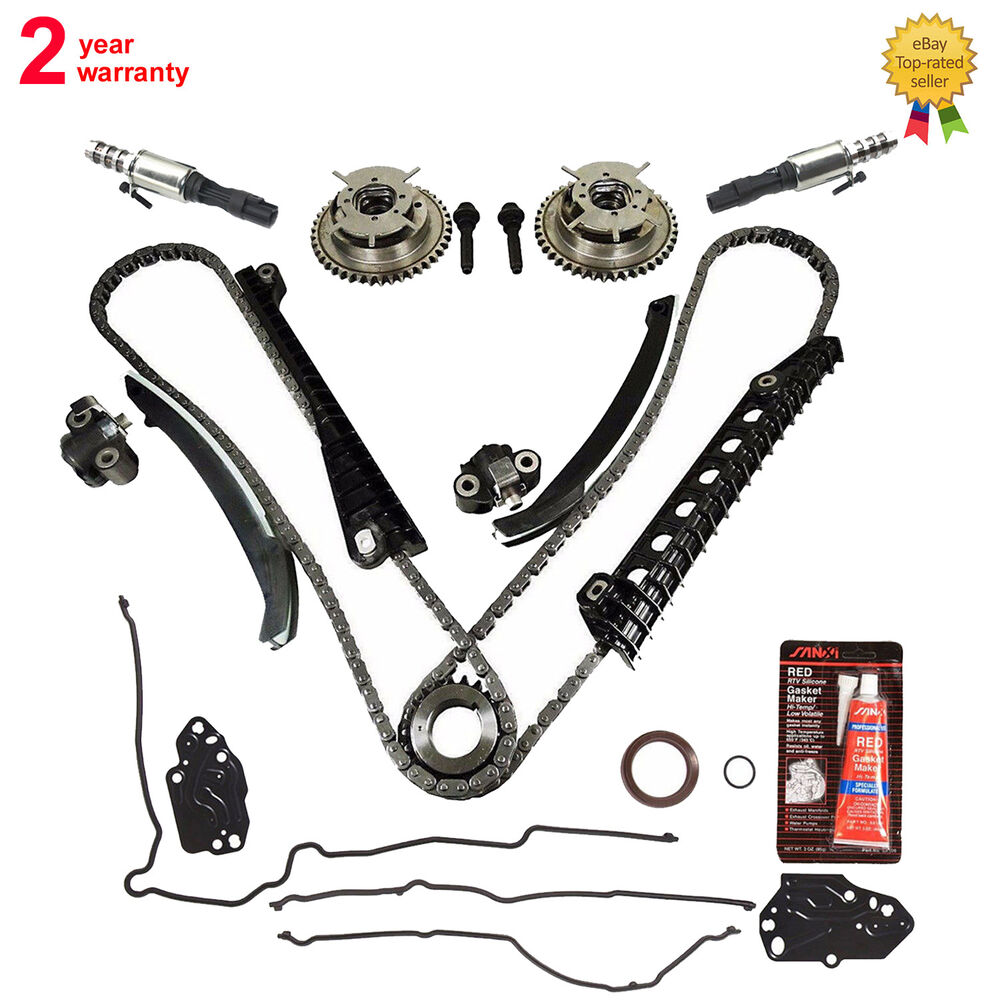 timing chain kit cam phasers valves gasket for ford lincoln 5 4 triton 3 valve ebay. Black Bedroom Furniture Sets. Home Design Ideas