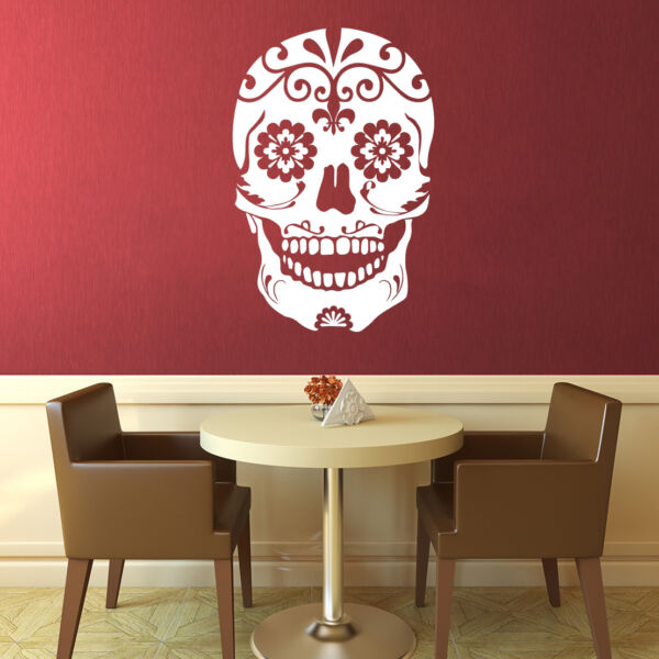 Calavera Art Mural Autocollants Candy Tatouage Rockabilly Rocher