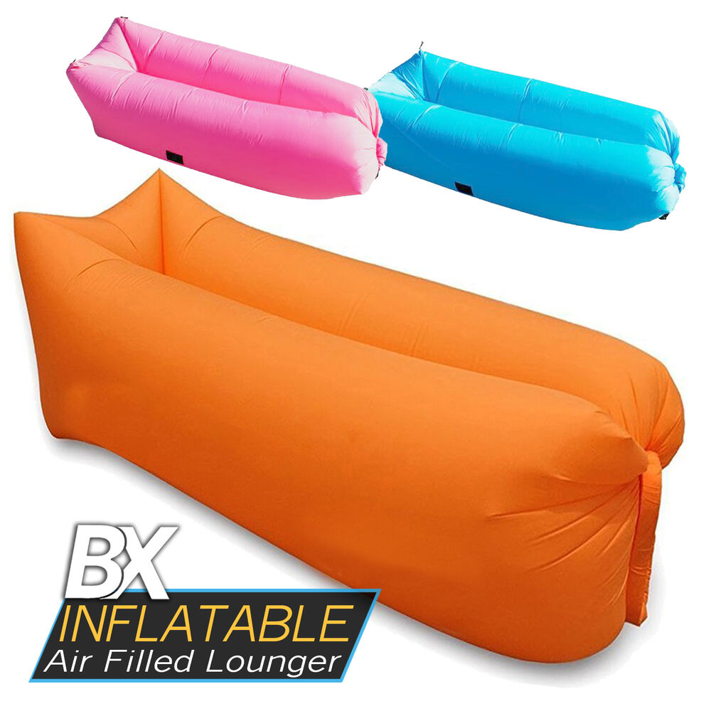 Bx Inflatable Air Filled Lounger No Air Pump Required Ebay