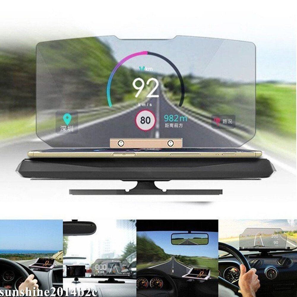 universal hud auto head up display gps navigation. Black Bedroom Furniture Sets. Home Design Ideas