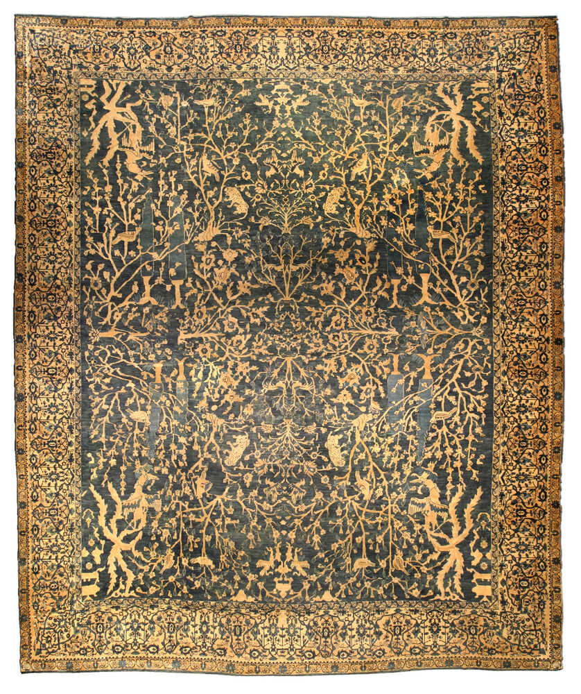 Antique Indian Rugs: Antique Indian Rug BB4444