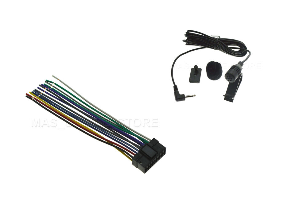 s l1000 wire harness & microphone mic for sony xav 70bt xav70bt xnv 660bt sony xnv-660bt wiring harness at n-0.co