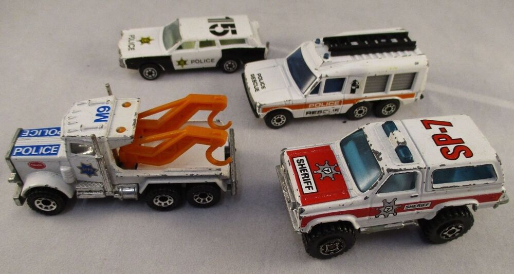vintage matchbox police sheriff cars bundle 1980s diecast toy car rare ebay. Black Bedroom Furniture Sets. Home Design Ideas
