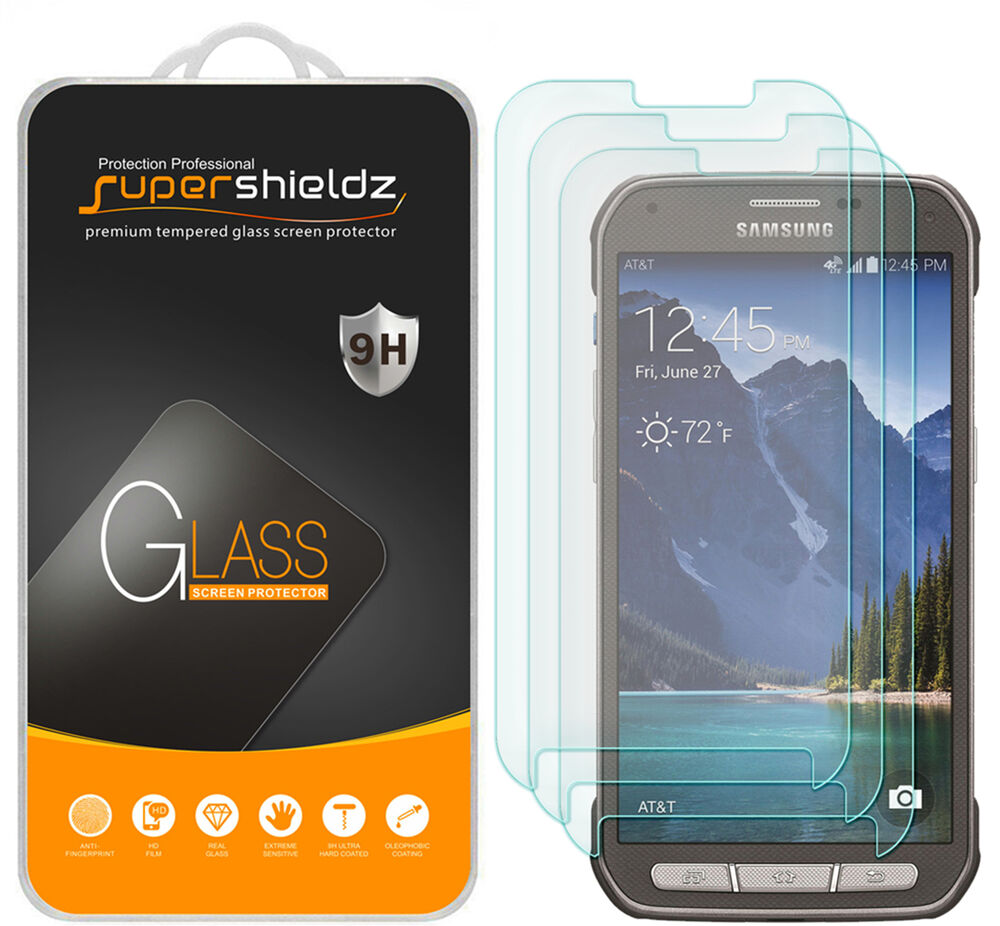 3X Supershieldz Samsung Galaxy S5 Active Tempered Glass