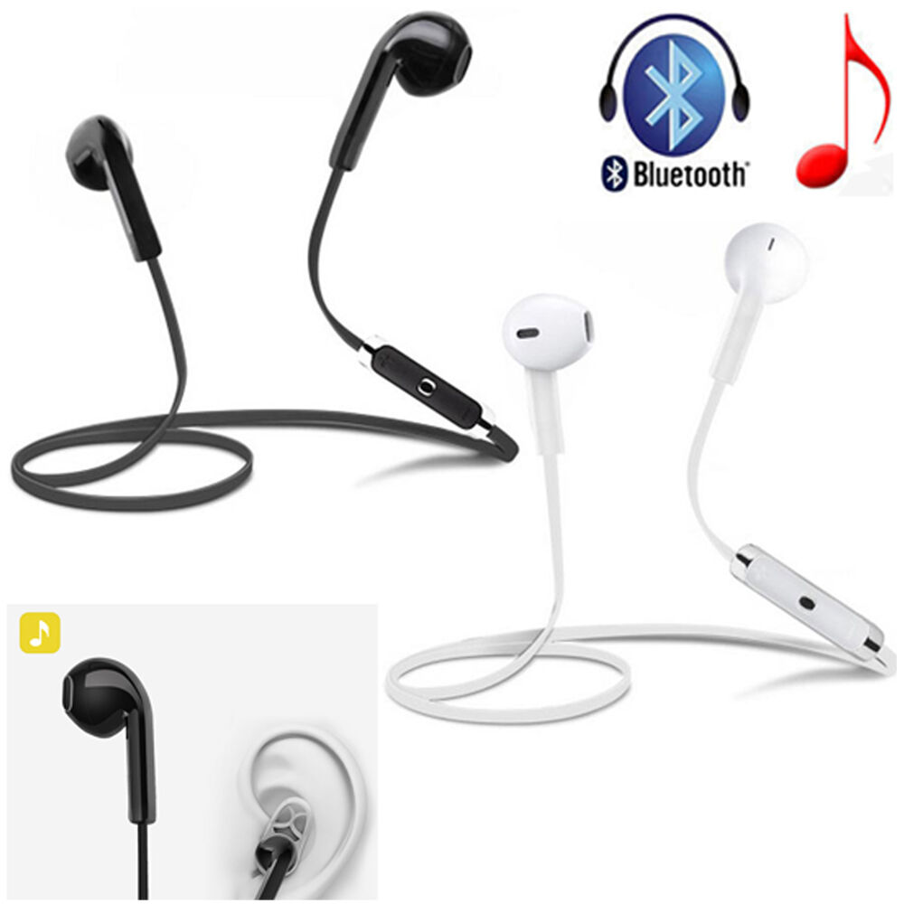 wireless bluetooth earphone sport stereo headset for apple iphone 7 6 6s plus 5s ebay. Black Bedroom Furniture Sets. Home Design Ideas
