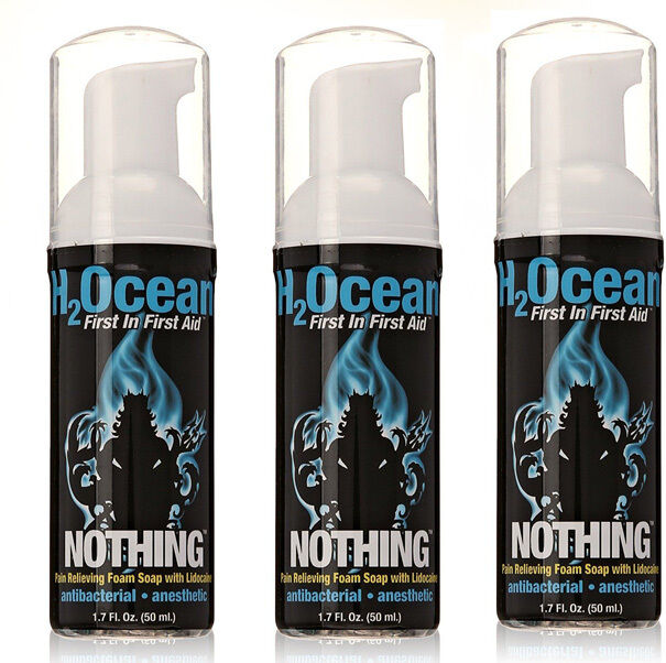 h2ocean nothing pain relief foam soap w lidocaine 1 7 oz