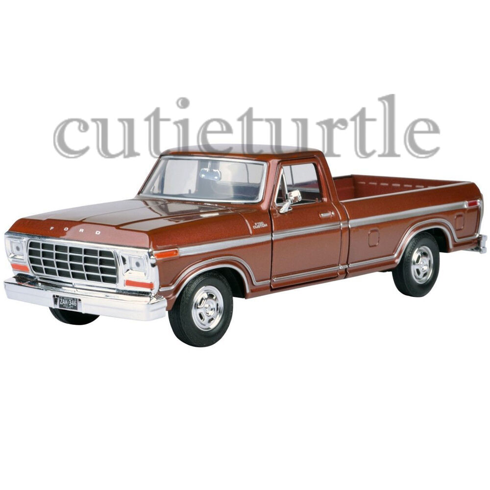 motormax 1979 ford f 150 custom pickup truck 1 24 diecast model car 74346 brown ebay. Black Bedroom Furniture Sets. Home Design Ideas