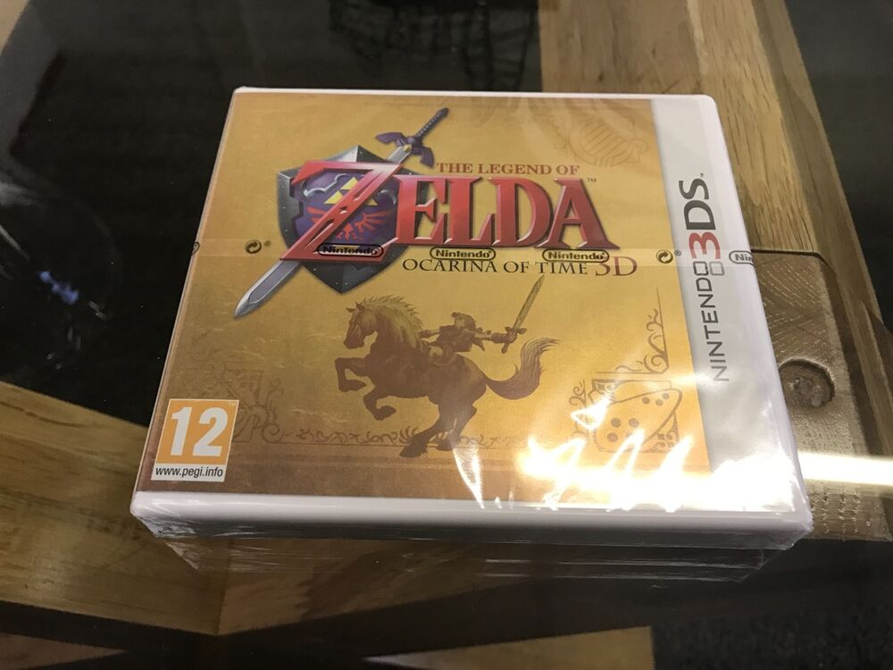 3ds limited edition factory sealed gold case the legend of zelda ocarina of time ebay - Ocarina of time 3ds console ...