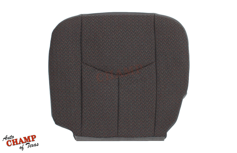 2005 2006 chevy 2500 hd work truck driver side bottom cloth seat cover dark gray ebay. Black Bedroom Furniture Sets. Home Design Ideas