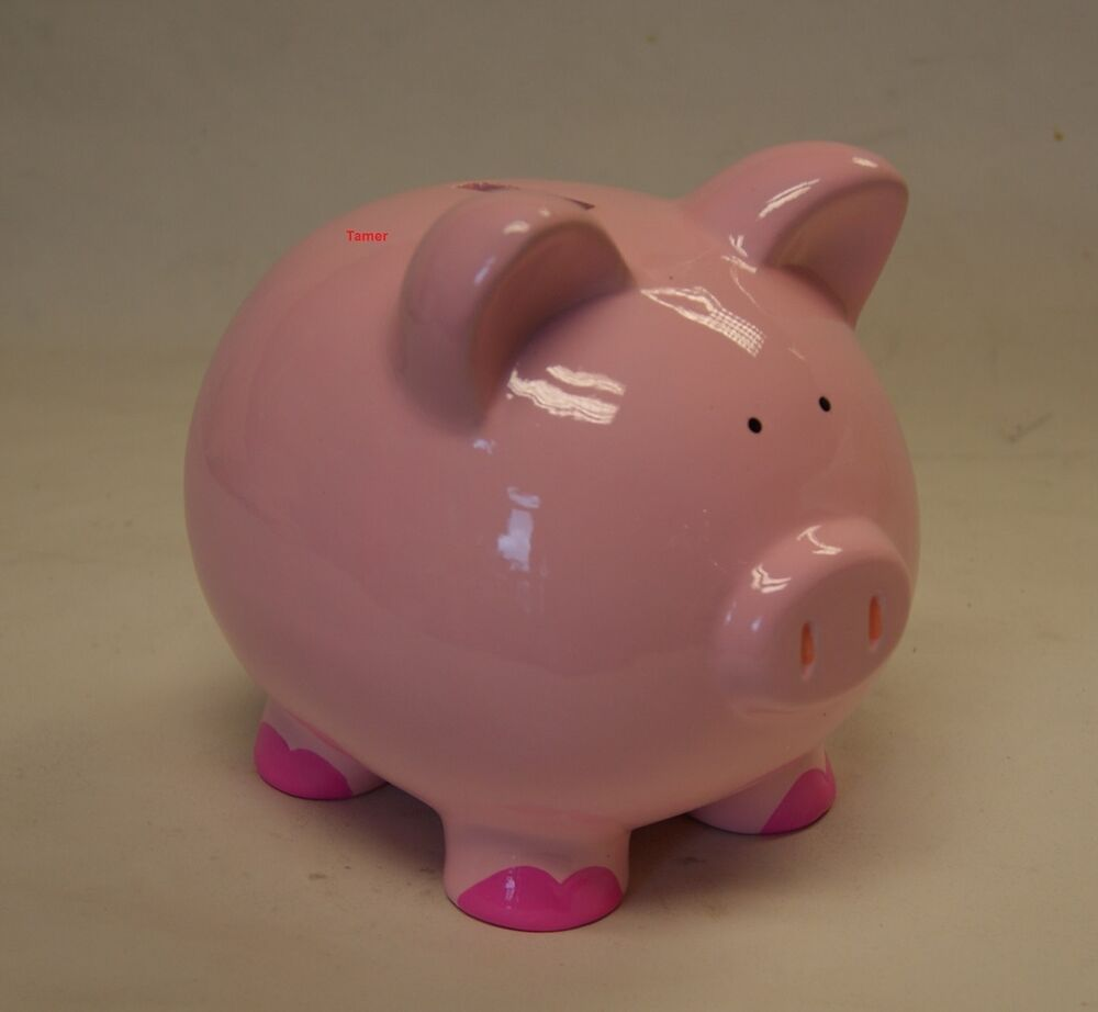 pink pig ceramic money box brand new in box pink pig. Black Bedroom Furniture Sets. Home Design Ideas