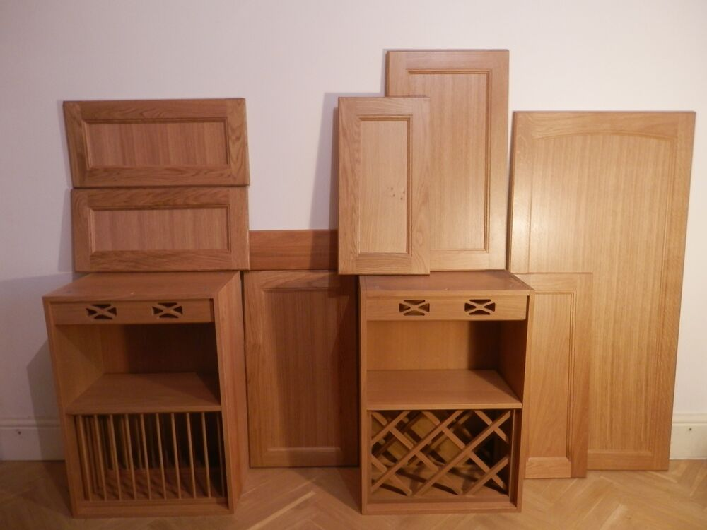 Kitchen Doors Units Cabinet Cupboard Front Replacement Brand New Solid Oak Wood Ebay