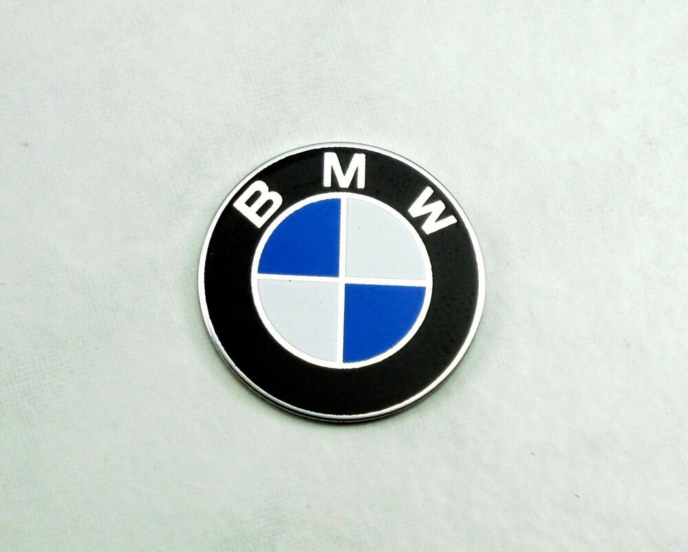 Aluminum Emblem For Nardi Classic Steering Wheel Horn Buttons 24mm Flat Bmw Logo Ebay