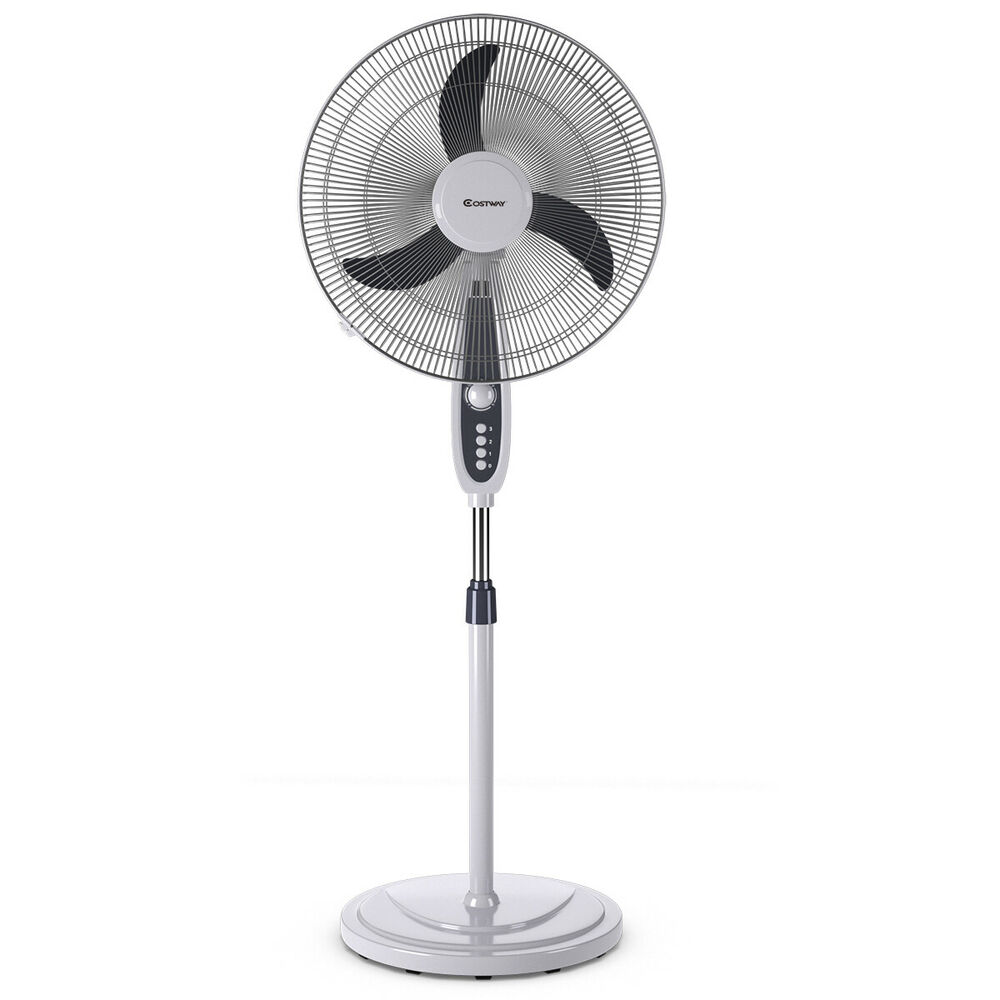 Pedestal Floor Fans : Quot pedestal fan speed oscillating stand floor manual