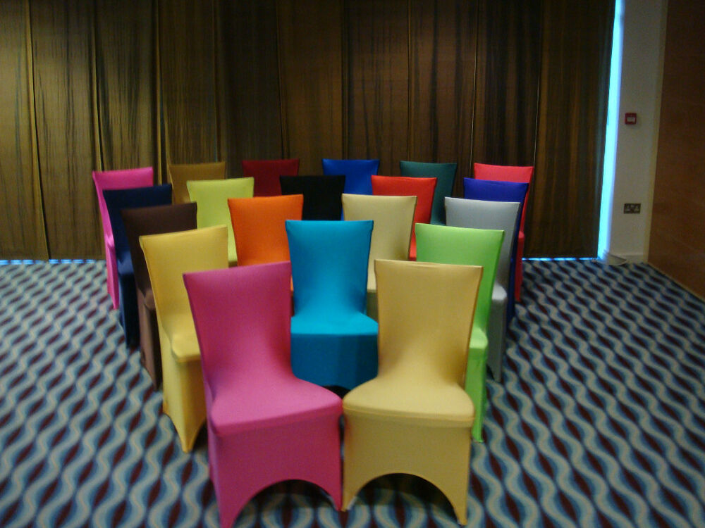 Dining room chair covers red green purple silver gold blue for Blue green purple room