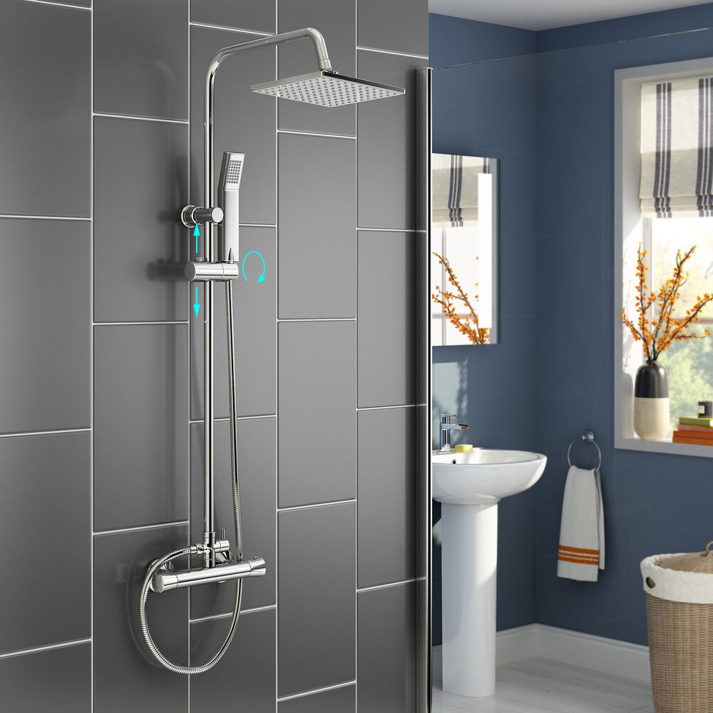Body Jet Shower Bathroom: Thermostatic Rain Shower Faucet Set Body Massage Jets Hand