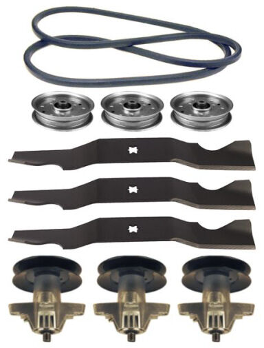 Lawn Mower Spindles For Blades : Cub cadet rzt quot lawn mower deck parts kit spindles