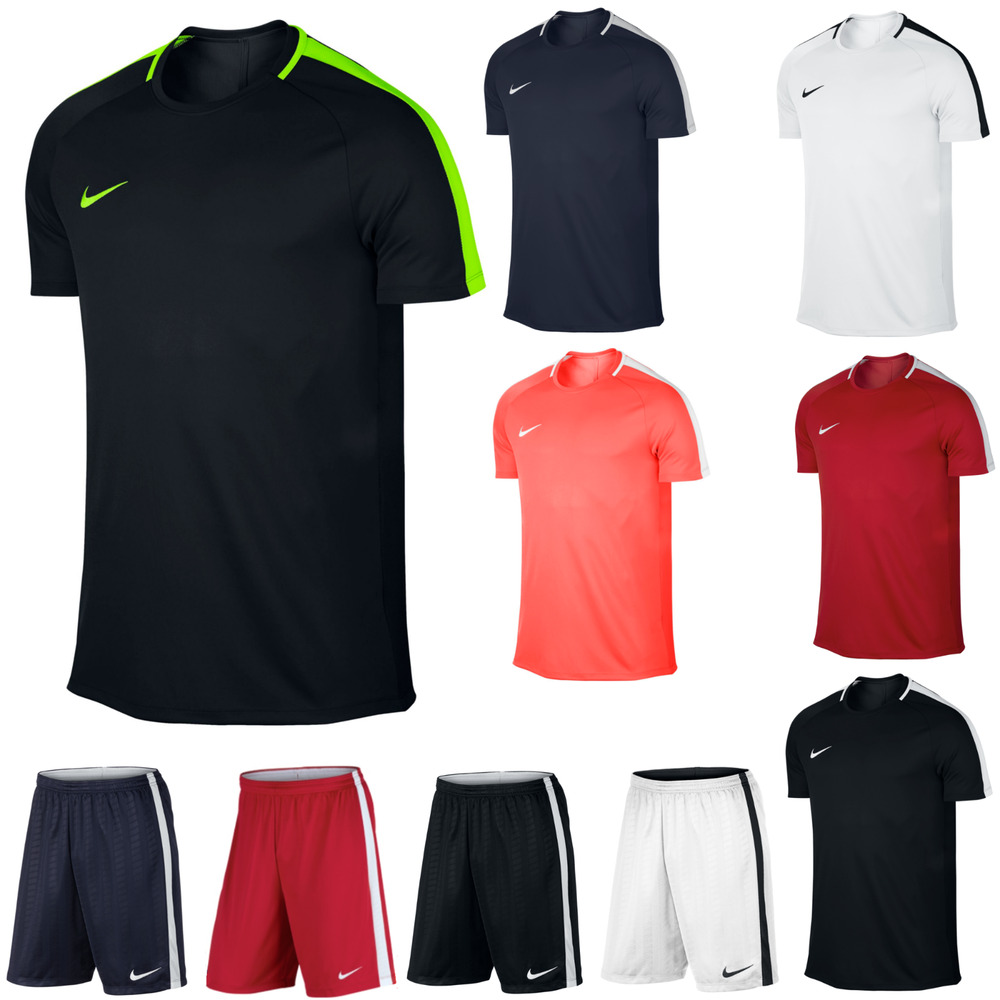 mens nike academy dri fit gym football sports training t. Black Bedroom Furniture Sets. Home Design Ideas