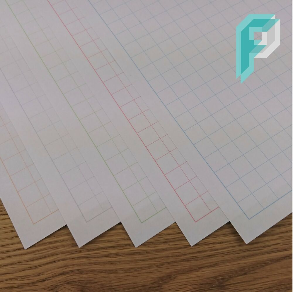 a3 1cm 10mm square grid graph paper  choice of colours  5