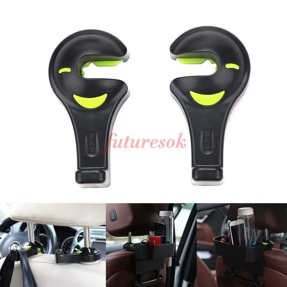2pcs car seat back headrest bag hanger hook fastener clip auto purse holder ebay. Black Bedroom Furniture Sets. Home Design Ideas