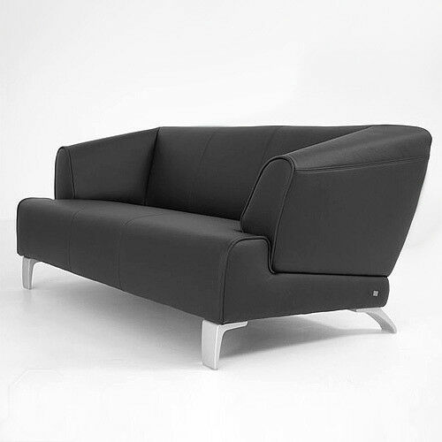 rolf benz sofa sob 2300 echtleder schwarz 2 sitzer sofabank 174 cm breit ebay. Black Bedroom Furniture Sets. Home Design Ideas