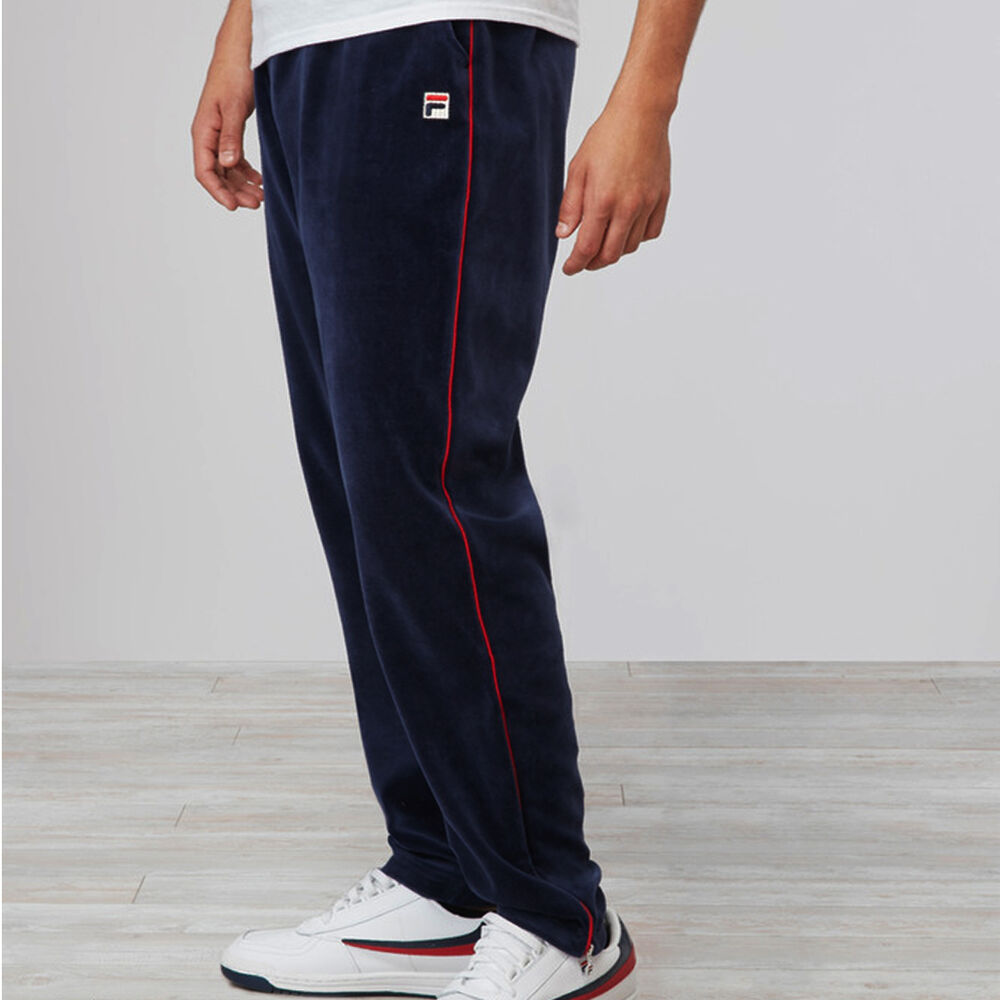New Fila Men S Vintage Athletic Piped Velour Pant Lm171sq8