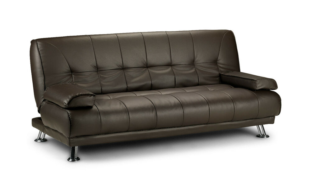 neu venedig schlafsofa kunstleder braun bett couch bettsofa sofa. Black Bedroom Furniture Sets. Home Design Ideas