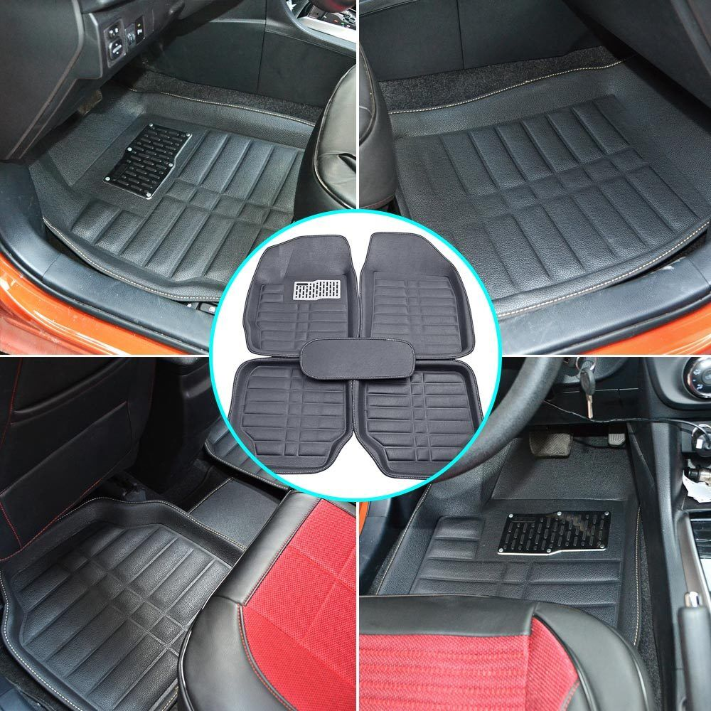 5pc Universal Car Floor Mats Floorliner Front Rear Carpet