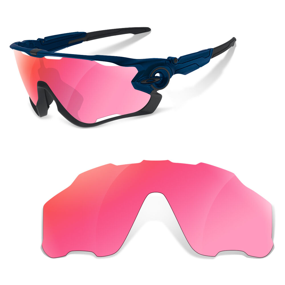 9de03598b66 Details about SURe Polarized Pink Special Cycling Replacement Lenses for Oakley  Jawbreaker