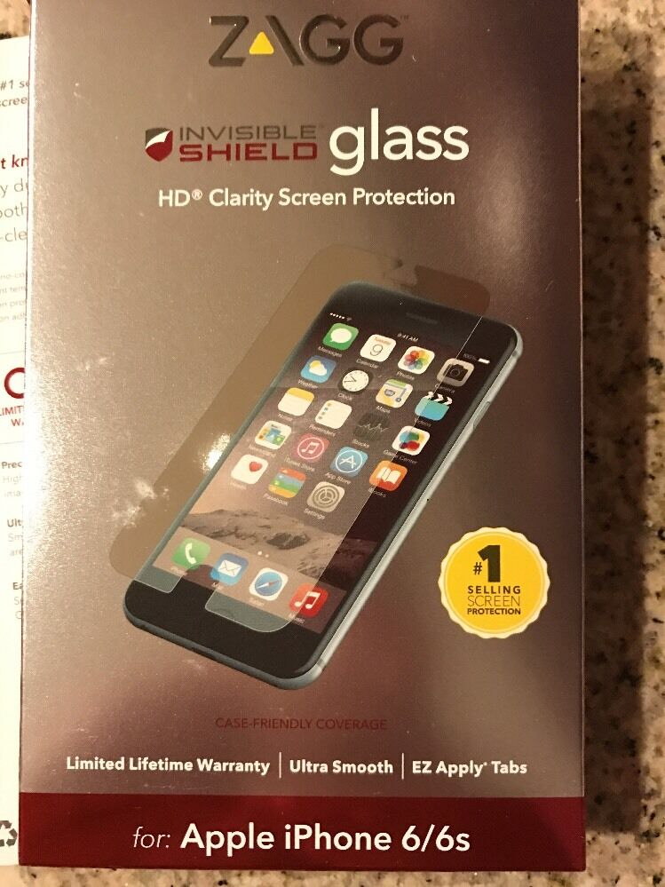zagg iphone 6 zagg invisible shield glass hd clarity screen protection 13338