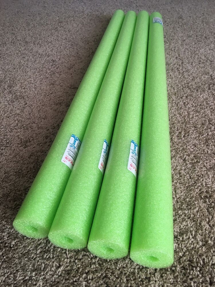 Lot 4x Lime Green Noodle Swimming Pool Noodle Therapy Water Floating Foam Craft Ebay
