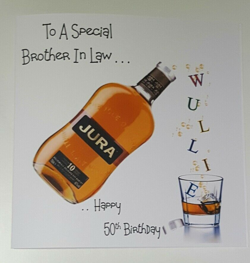 Personalised 50th Birthday Card Whiskey 21st 30th 40th