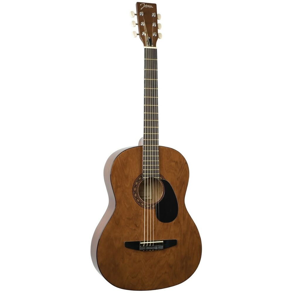 johnson jg 100 wl student acoustic guitar walnut beginner steel string guitar ebay. Black Bedroom Furniture Sets. Home Design Ideas