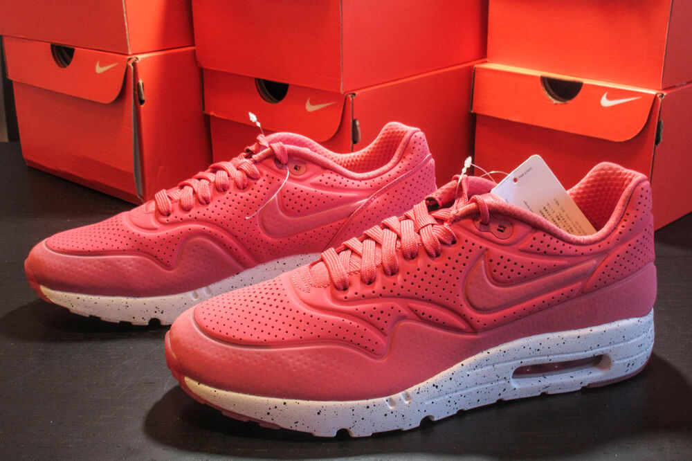 reputable site 74783 0675a Details about Nike Air Max 1 Ultra Moire Terra Red White Mens Size 9 DS 705297  611