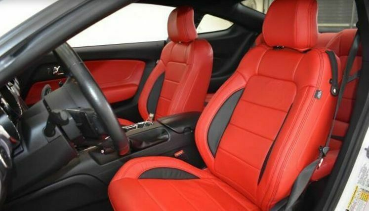 Katzkin Zkintech Ford Mustang Gt V6 Coupe Leather Seat Covers 2015 2016 2017 Ebay