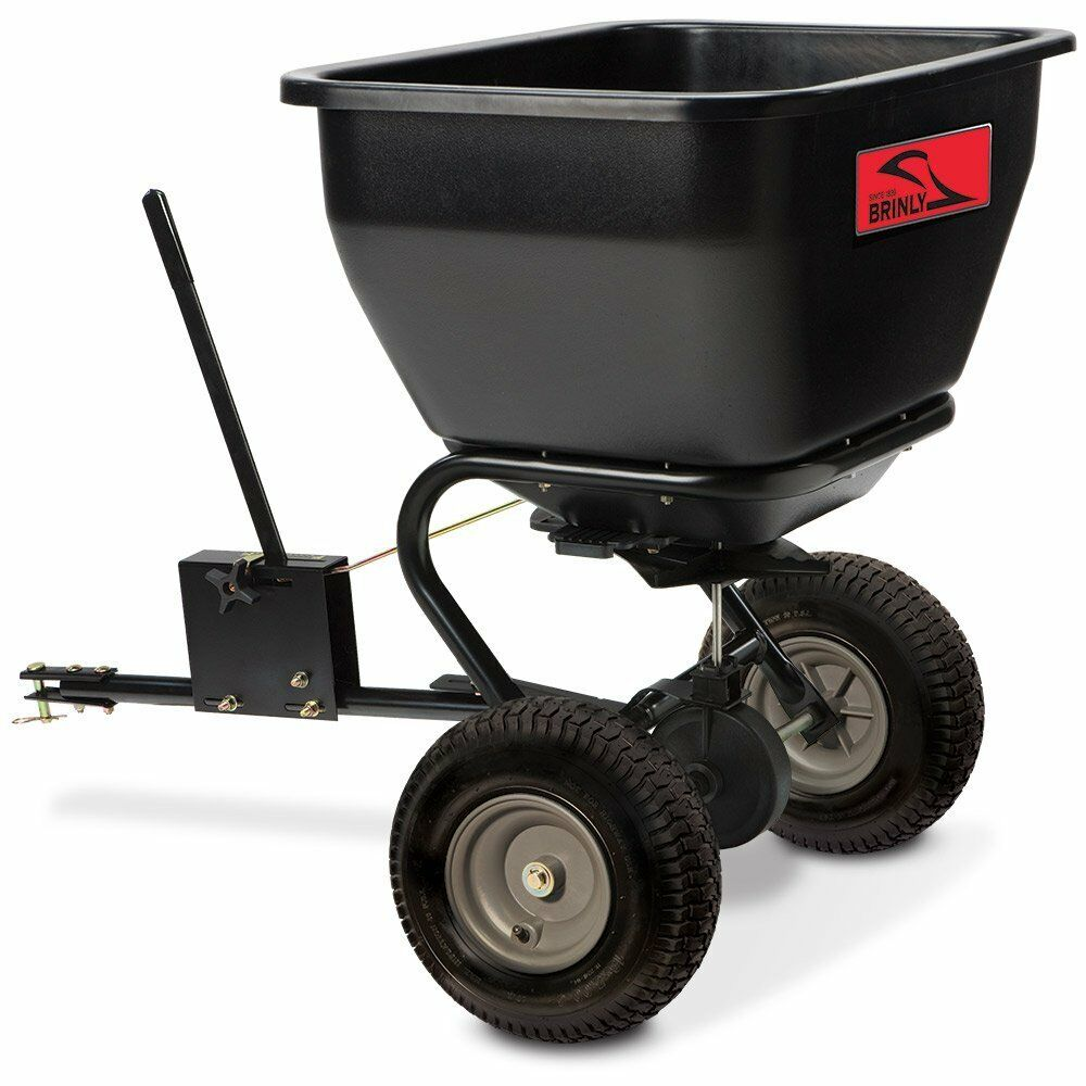 Broadcast Spreader Turf : Tow behind lawn fertilizer broadcast spreader grass yard