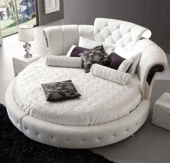 Round Bed Super King Size Bed Frame And Round Mattress