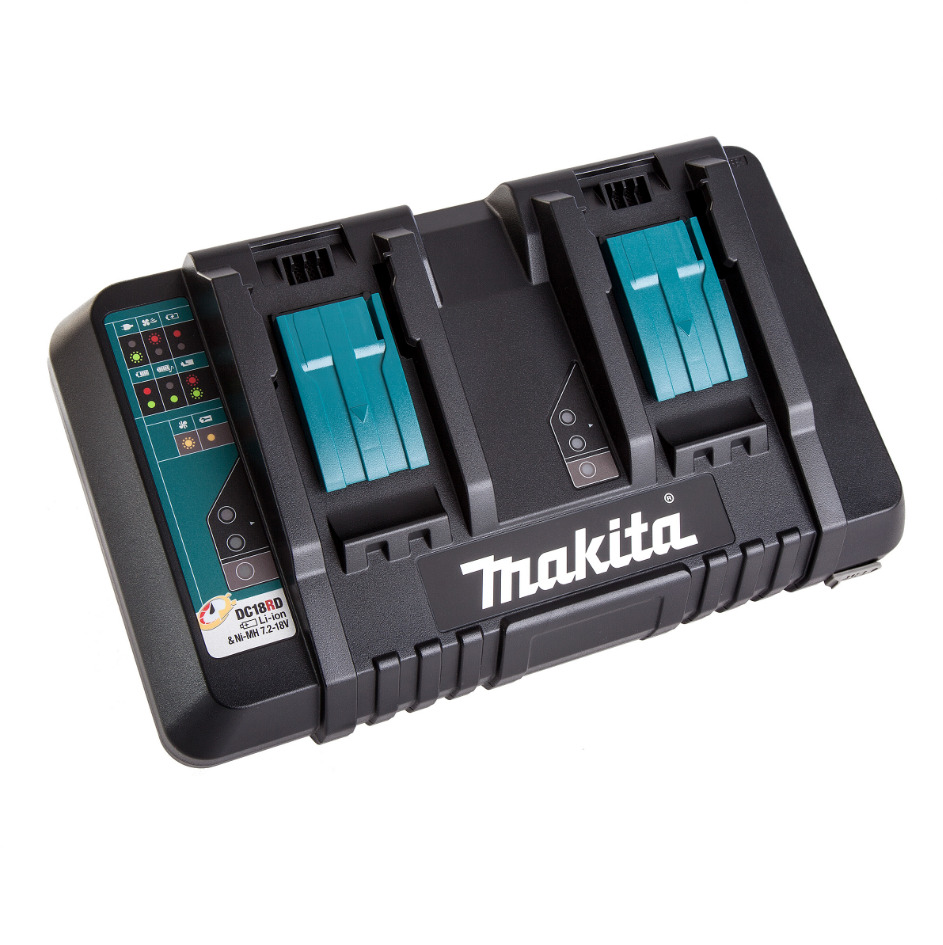 Makita Dc18rd Dual Port 14 4 18v Rapid Battery Charger Usb For 2 Bl1830 1850 Ebay