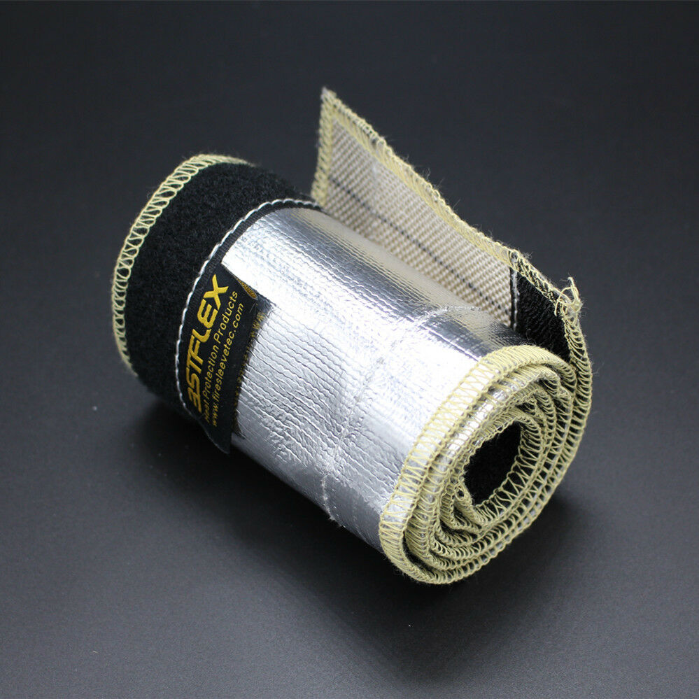 10 Insulated Wire Covers : Aluminized metallic heat shield sleeve insulated wire hose