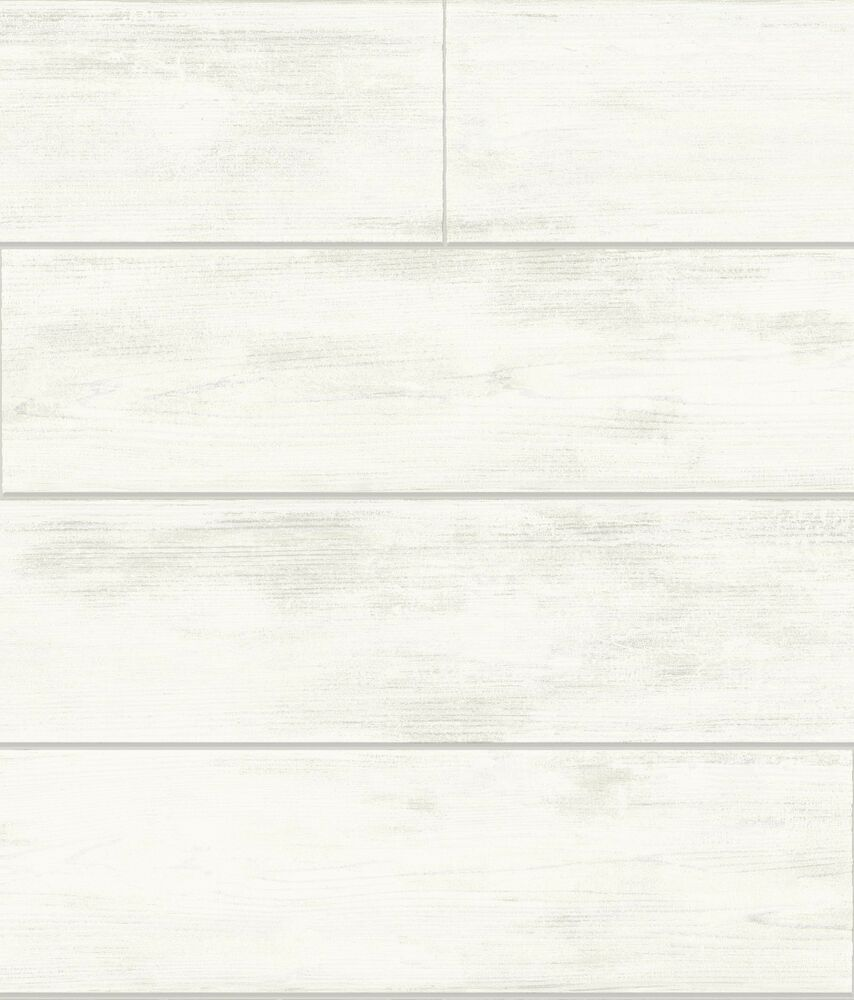 Magnolia Home White Shiplap Wood On Sure Strip Wallpaper