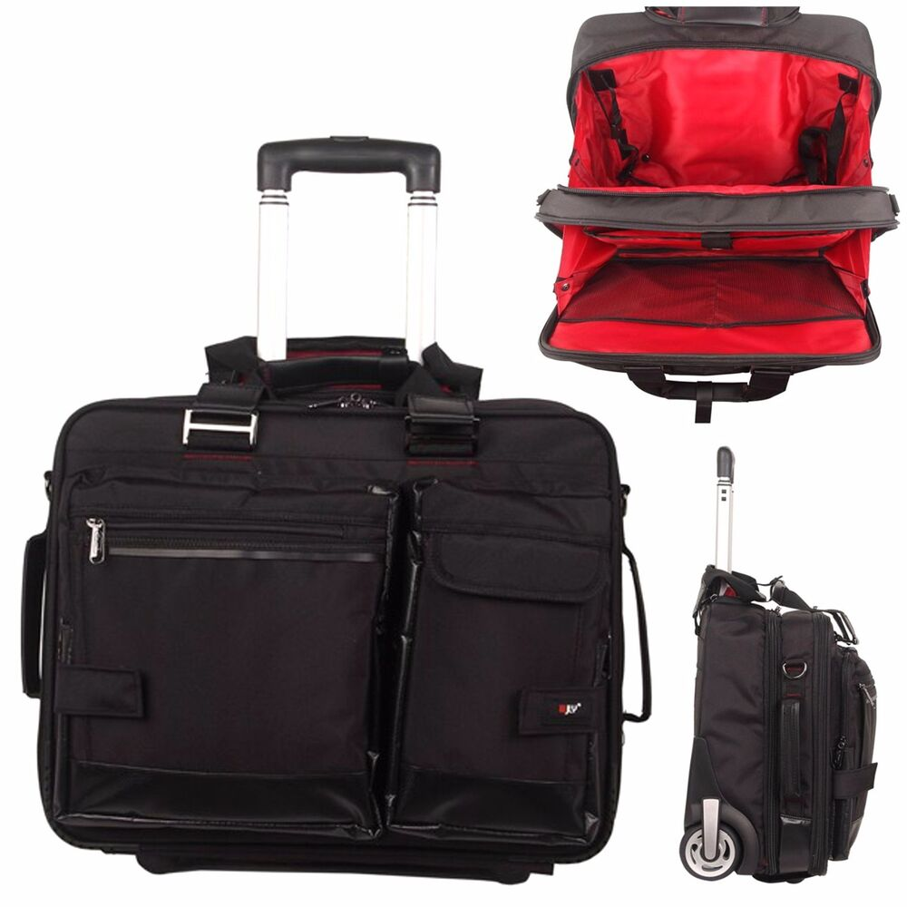 Unisex 17 cabin case trolley travel bag laptop hand for Laptop cabin bag