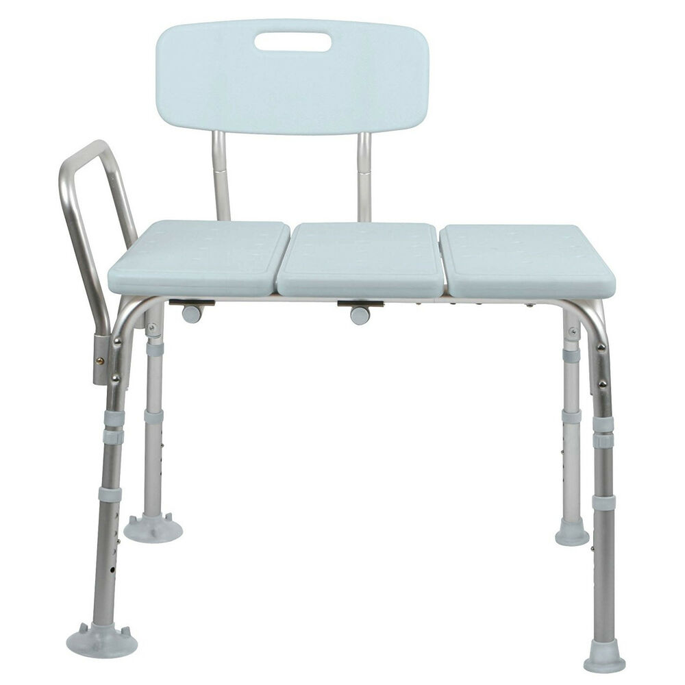 Adjustable transfer shower bath tub bench safety use elderly mobility aid tool ebay Bath bench